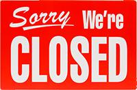 Schild closed